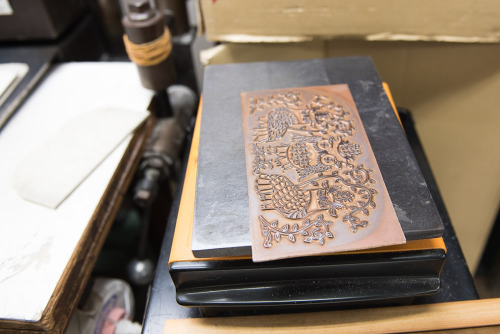 Leather pressing