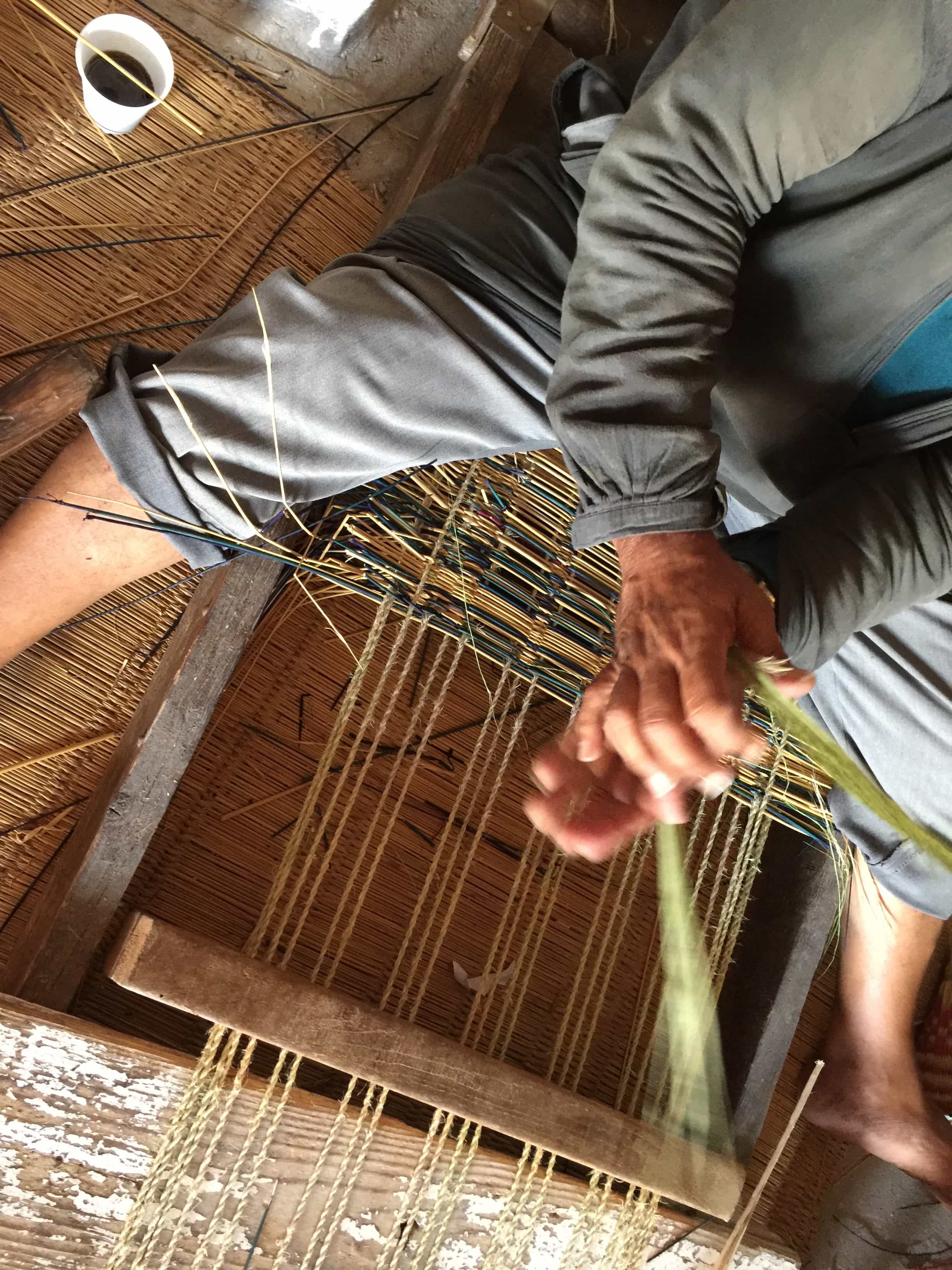 Tunisian Basketry — Weaving Overhead