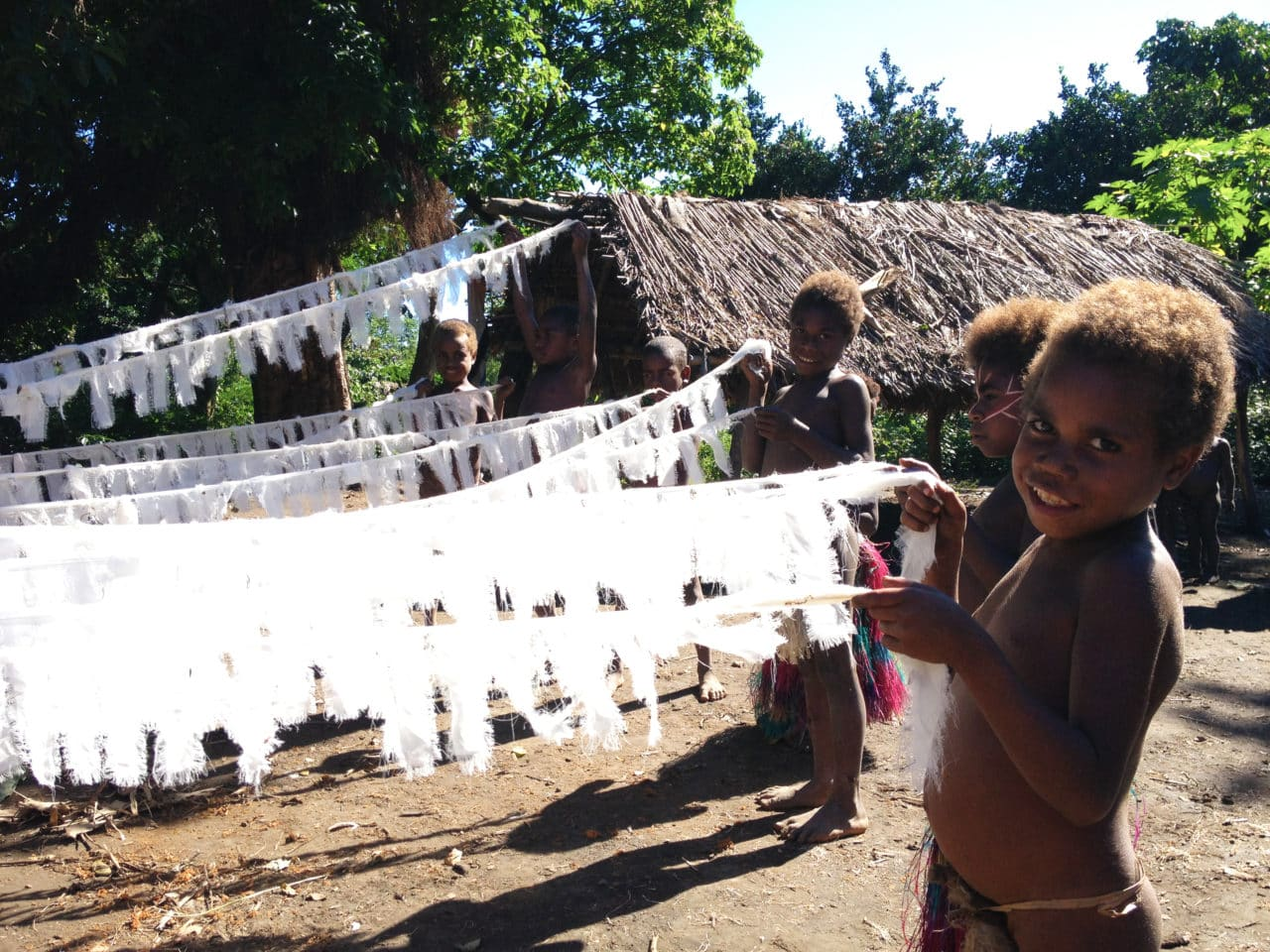 The people of Vanuatu with Tiago Valente's textiles
