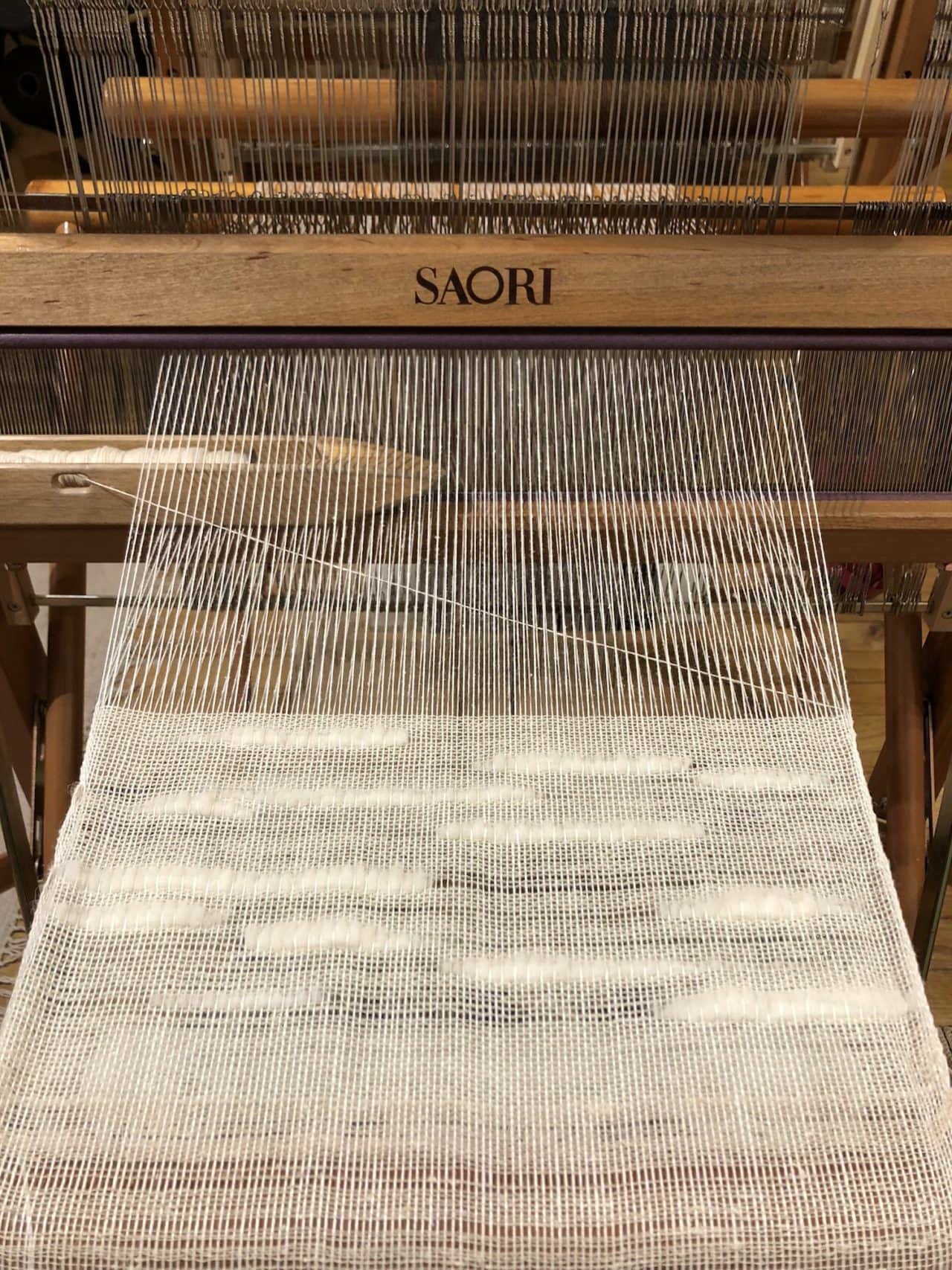Saori weaving by Tanu Vasu (Photo: Courtesy of Tanu Vasu)